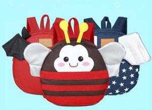 2018 Schoolbag Bebek sırt çantası Çocuk çantaları Anaokulu Öğrenci sırt çantası Çocuk çantası Tuval + Naylon Okul Çantaları Sevimli karikatür A20