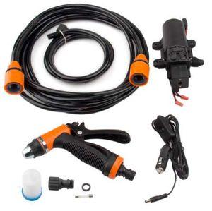 12V 휴대용 100W 160PSI 고압 자체 프라이밍 전기 세차 세탁기 담배 라이터 워터 펌프 빨간색