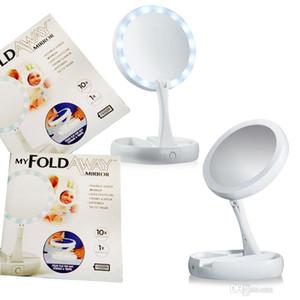 My Fold Away Make Up LED Espelho de Rotação de 360 Graus Tela Sensível Ao Toque Compõem Dobrável Cosmético Portátil Compacto de Bolso 30