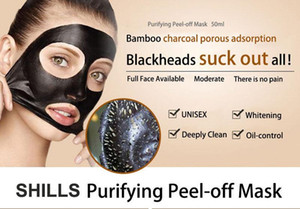 SHILLS Deep Cleansing Black Mask Pore Cleaner 50ml Purifying Peel-off Mask Blackhead Facial Mask with plastic sealed box and specification