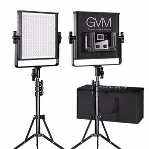 GVM Dimmable Video LED Panel de luz para Photography Studio 520 Lamp Beads 3200K-5600K LED Studio Lighting con soporte de kit