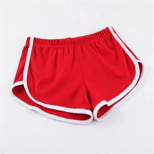 Kadınlar Gym Şort pamuk İç Yumuşak Elastik Boxer Avrupa Rusya moda cesur Lady Spor Shorts Koşu Sarı sevimli İnce seksi parti kırmızı