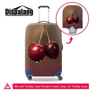 Copertura rigida per stampa di frutta Carry on Luggage Accessori da viaggio carini Protezione elastica per copri valigia per adulto con cerniera