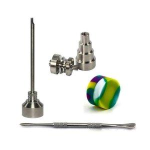 Set di strumenti per bong 10 14 18mm Domeless Gr2 titanio per unghie con tappo in carb strumento dabber Slicone jar contenitore per bong in vetro