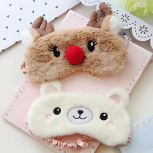 Maschera per gli occhi Bunny carino Bunny Sleeping Eye Mask Nap fumetto peluche Eye Ombra Sleep Mask Bandage