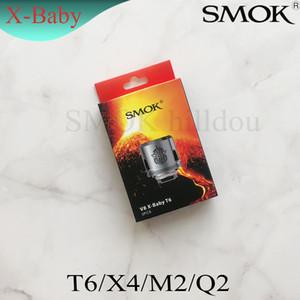 Cabezales de bobina auténticos SMOK TFV8 X-Baby M2 Q2 X4 T6 Bobinas de atomizador de repuesto para Smoktech TFV8 X-Baby Tank 100% Original