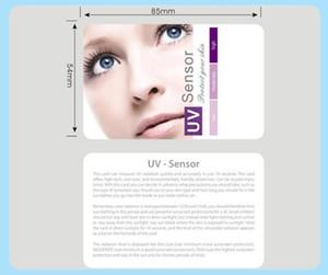 Prueba de sol UV UV Tarjetas Rayos Ultravioleta El Nivel Tester piel, proteger advertencia al por mayor 100pcs