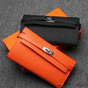 2016 nuove donne di arrivo portafogli di lusso primo strato in pelle di vacchetta titolare della carta di design portafoglio portafoglio borsa lunga