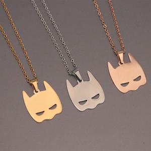 Everfast Batman Ciondoli collane in acciaio inossidabile carino maschera Charms collana girocollo donne ragazze dottore regalo di Natale gioielli