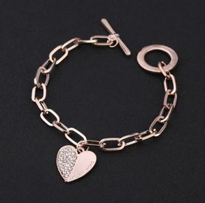 Women alloy glod pendant set with diamond bracelet 2020 hotsell gift bracelet