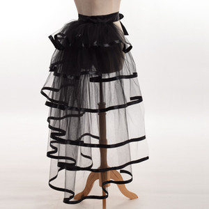 1pc Mujeres Victorian Steampunk Black Bustle Mujeres Tutu Belt Lace Underskirt NUEVO High Qualitu Envío rápido