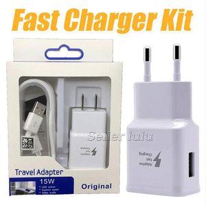 A + + + 9V1.67A 5 V 2A Ev Duvar Şarj Adaptörü Kitleri Hızlı Şarj 2 1 AB ABD Plug Adaptörü + USB kablosu 2.0 Veri Senk Kablosu