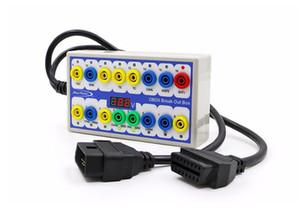 Neueste OBD2 Breakout Box Auto OBD OBDII Protokoll Detektor Breakout Box OBD2 Diagnosestecker Detektor