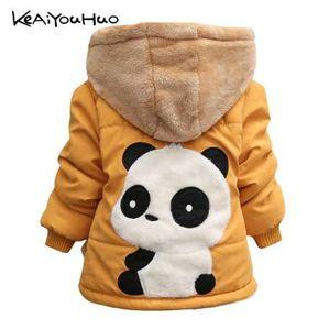 KEAIYOUHUO зима Рождество новорожденных девочек куртка повседневная Куртка для девочек пальто дети теплый хлопок верхняя одежда пальто Детская одежда