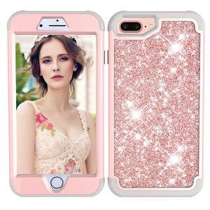 Lüks hibrid zırh darbeye dayanıklı case için iphone 8 plus x 7 6 6 s 360 derece tam kapak için iphone 6 s telefon case coque