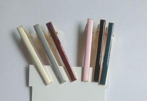 Clips Klassische Epoxidhaar-Clips Neue Metall Ente Tropfer Emaille Ein Gold Flachöl Mischfarben Haar Frauen Set für Pin 6 PCS Lot Novrq
