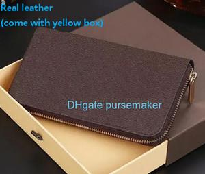 designer best 5a zip py vera pelle di lusso damier factory Classic Fashion Unisex portafoglio mens e donna borsa ZIPPER con box 60017