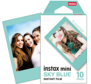 Newest Instax Mini Sky Blue Instant Film 10 sheets For Mini 90 8 25 7S 50s Polaroid Instant Camera DHL free