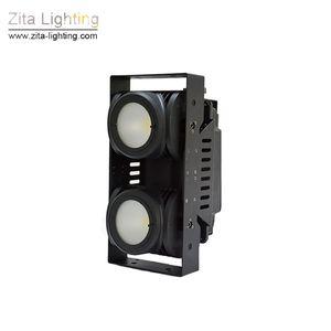 Zita Lighting LED Blinder Lights Matrix 2 Eye Audience Light COB 2X100W DMX Iluminación de escenario Impermeable 2IN1 Disco para DJ al aire libre Efecto de teatro