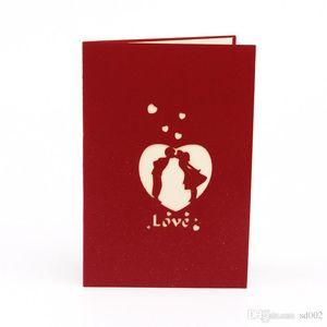 Dia 3D Valentim Wedding Party Love Cards Detalhes no Laser Cut Convidando Cartão do partido Por favor Suprimentos Hot Sale 4 63ld ZZ