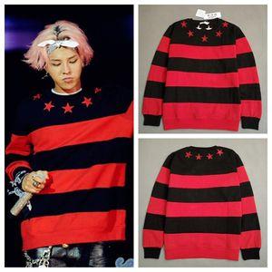Kpop Bigbang GD G-Dragon unisexe Sweaterhirt homme Pullover Sweatershirts Nouveau