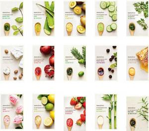 15 tipos de INNISFREE Squeeze Mask Sheet Hidratante Facial Tratamiento de la piel Control de aceite Mascarilla facial Peel Cuidado de la piel Pilato a través de Fedex DHL