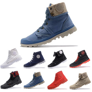 Barato Original Palladium Brand Boots Mujer Hombre Diseñador Deportes Rojo Blanco Negro Camo Zapatillas de invierno Entrenadores casuales Lujo ACE Botines