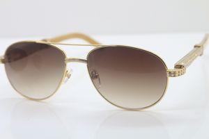 New Style Hot 569 Unisex Branco Genuine Natural Óculos mens designer óculos marca ouro 18K pedras menores óculos grandes óculos de condução