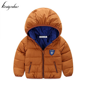 keaiyouhuo Baby Girls Jacket 2017 Winter Jacket For Boys Jackets Kids Hooded Warm Outerwear Coat Infant Boys Children Clothes