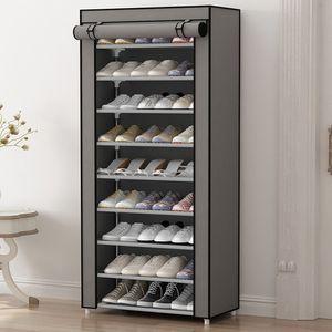 Cremalheira Dustproof simples da sapata da multi função de HHAiNi, armazenamento não tecido Organzier do armário das sapatas com portas do zíper