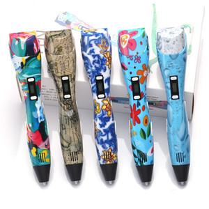 Penna 3d originale stampa 3d penna da disegno fai-da-te 3 d Penne stampante Filamento PLA ricarica temperatura fredda calda per regalo di compleanno