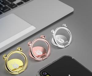 Soporte de montaje de 360 grados oso dedo cabeza del anillo del teléfono móvil Smartphone del soporte del sostenedor para el teléfono universal,