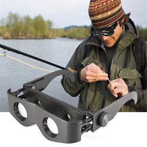 Negros portátiles vidrios de la pesca Diseño Vidrios del estilo de gafas especiales telescopio plegable de vidrio Telescopio Pesca Accesorios de pesca