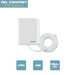 Comfast linea 10M Antenna WiFi esterna lunga 10dbi Antenna 2.4 GHZ Scheda esterna Wifi 802.11B / G / N Scheda di rete wireless