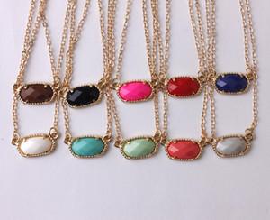 Рождественские подарки Золото Серебро лапка Мини Смола Choker ожерелье овальный для мини Овальный Геометрическая Подвеска Короткие ожерелье женщин ювелирные изделия костюма
