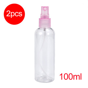 2PCs 100ml Transparent Empty PET Sprayer Bottle Refillable Bottles Cosmetic Atomizer for Perfume and Essential Oil