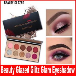 Beleza Glazed Glitter Matte Paleta De Sombra 10 Cores Maquiagem Cosméticos Marca Glitz Glam Lantejoulas Shimmer Sombra de Olho Paleta