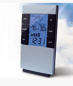 Indoor electronic thermometer home electronic thermometer with time backlight weather forecast alarm clock