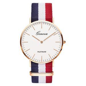 제네바 제네바 시계 멀티 컬러 시계 초박형 나일론 캔버스 벨트 남성용 시계 제조사 도매 무료 배송