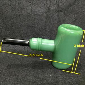 Новейший классический дизайн Стеклянная курительная трубка Молотковая головка барботера Табачные курительные трубки для сухой травы Сигареты Сигары