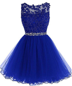 2018 New Cheap Tulle Short Homecoming Dresses For Juniors Women Plus Size Appliques Graduation Party Prom Formal Gown BQ52