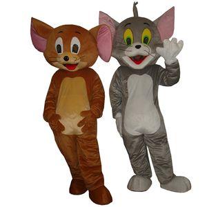 Tom und Jerry Maskottchen Kostüm zusammen mit niedrigeren Preis für Erwachsene Tier Halloween Party Verkauf kostenloser Versand