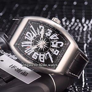 Дешевая мужская коллекция Date Vanguard Новый Saratoge V 45 SC DT Yachting Черный циферблат Автоматические мужские часы Серебро 316L Стальной резиновый ремешок Watcehs