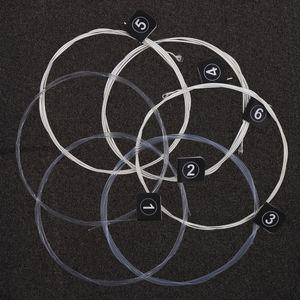Orphee 6 قطعة / المجموعة سلاسل الغيتار سلسلة الغيتار الكلاسيكي الكلاسيكي سلسلة e / b / g / d / a / e استخدام عالية الجودة النايلون سلك يشعر modera