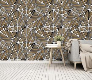 Personalizada Stereo Retail Folha 3D arte geométrica fundo do metal pós-moderna do metal decorativo da parede irregular geométrica Figura Mural