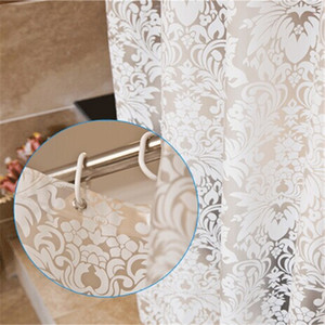 New Design Damast-Blumen Duschvorhang PEVA Duschvorhänge Thick Polyester Schmetterling Badvorhang Wasserdicht Mouldproof Cortina
