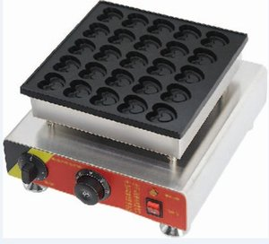 Antihaft-elektrische Herz-Form-Holländer Poffertjes Mini-Holländer-Pfannkuchen-Hersteller-Maschinen-Bäcker geben Verschiffen 110v / 220v frei
