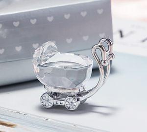 Chic Crystal Favors Baby Carriage Party Favors Regalos para bodas Baby Shower Supplies Envío Gratis W8162