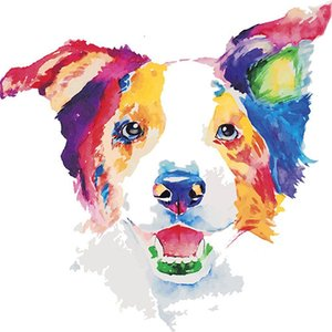 China new arrivals diamond painting dogs full drill 5d painting kit Full Paste Square Cross Stitch Home Decoration Paintings