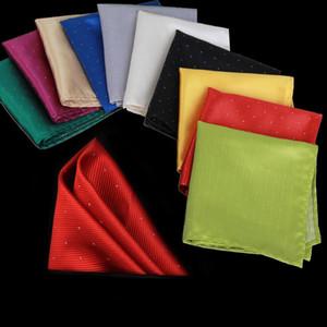 New Fashion jacquard Spot Hanky Handkerchief kerchief Business Suit Pocket Handkerchief Fashion Accessories Christmas Gift 210048